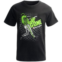 Champion Printed T-Shirt - Short Sleeve (For Boys)