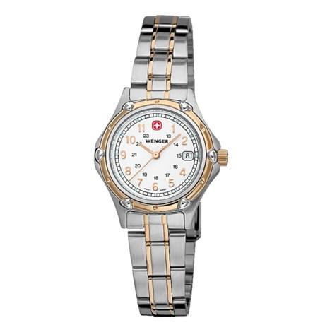 Wenger Standard Issue Bi-Color Watch - Stainless Steel Bracelet (For Women)