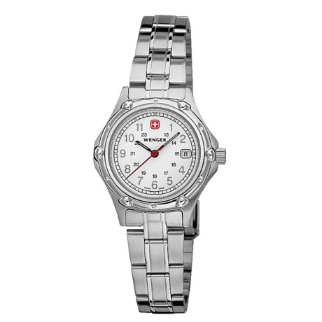 Wenger Standard Issue Small Swiss Watch - Stainless Steel Bracelet (For Women)
