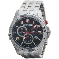Wenger Squadron Chrono Watch - Stainless Steel Bracelet (For Men)