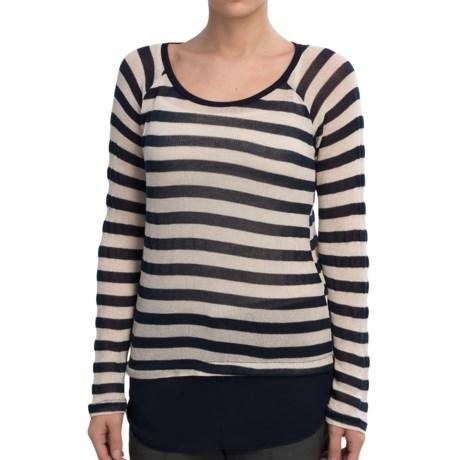 Olive & Oak Lightweight Sweater - Chiffon Hem (For Women)