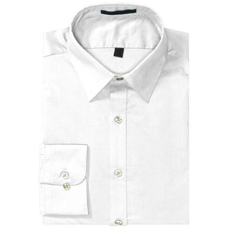 Specially made Wrinkle-Free Poplin Dress Shirt - Modified Spread Collar, Long Sleeve (For Men)