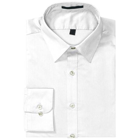Wrinkle-Free Poplin Dress Shirt - Modified Spread Collar, Long Sleeve (For Men)