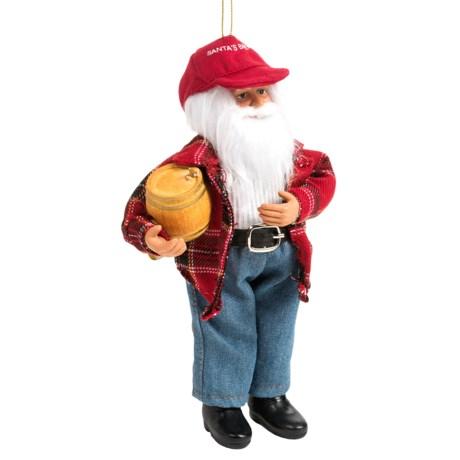 "Santa's Workshop Moldable Santa Ornament - 9"""