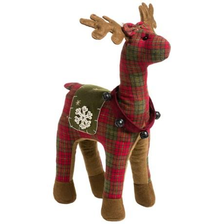 """Santa's Workshop 17"""" Plaid Reindeer"""