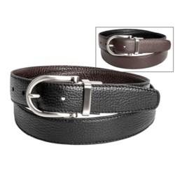 Ike Behar Full-Grain Leather Dress Belt - Reversible (For Men)