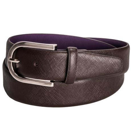 Ike Behar Saffiano Dress Belt (For Men)