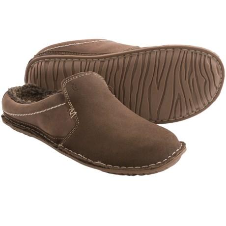 Crevo Ziggy Clog Slippers - Suede, Fleece Lined (For Men)