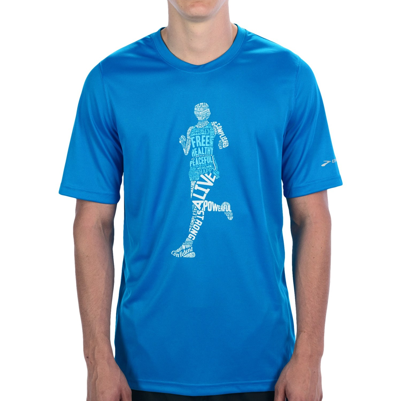 Brooks Happy Runner T Shirt For Men 7503t