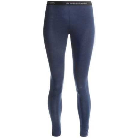 Icebreaker Vertex Base Layer Bottoms - Merino Wool, Midweight, UPF 30+ (For Women)