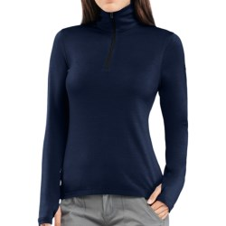 Icebreaker Bodyfit 260 Tech Base Layer Zip Neck Top - UPF 30+, Merino Wool, Midweight, Long Sleeve (For Women)