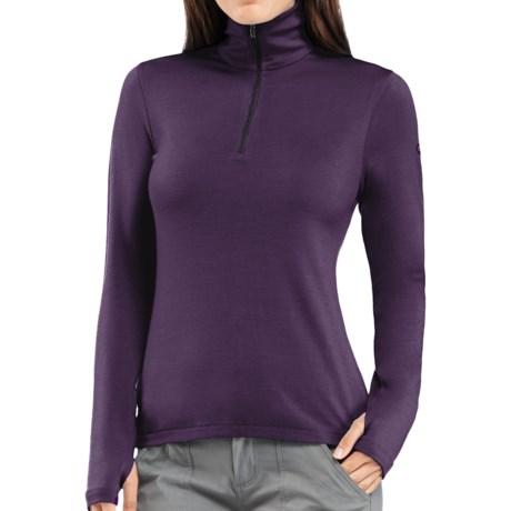 Icebreaker Bodyfit 260 Tech Base Layer Zip Neck Top - UPF 30+, Merino Wool, Midweight, Long Sleeve (For Women)