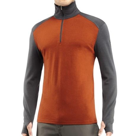 Icebreaker Tech Zip Neck Shirt - UPF 30+, Merino Wool, Midweight, Long Sleeve (For Men)