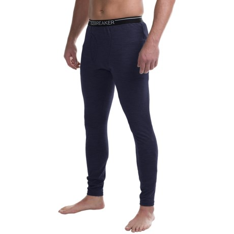 Icebreaker Apex Base Layer Bottoms, Midweight, Merino Wool (For Men)