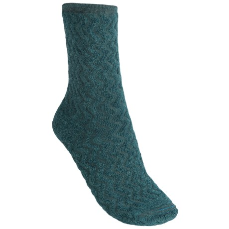 Goodhew Wavy Plush Socks - Crew (For Women)