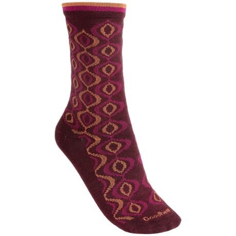 Goodhew Genie Medallion Socks - Merino Wool, Crew (For Women)