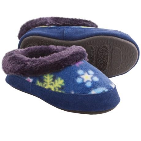 Acorn Hopscotch Mule Slippers - Fleece (For Kids)