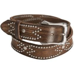 Aventura Clothing Distressed Rivet Belt - Leather (For Women)