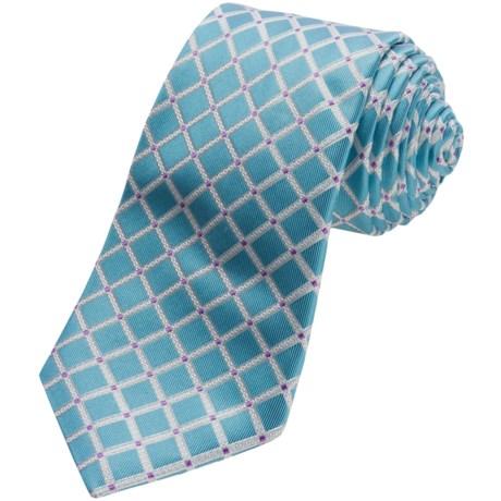 Ike Behar Graph Check Silk Tie (For Men)