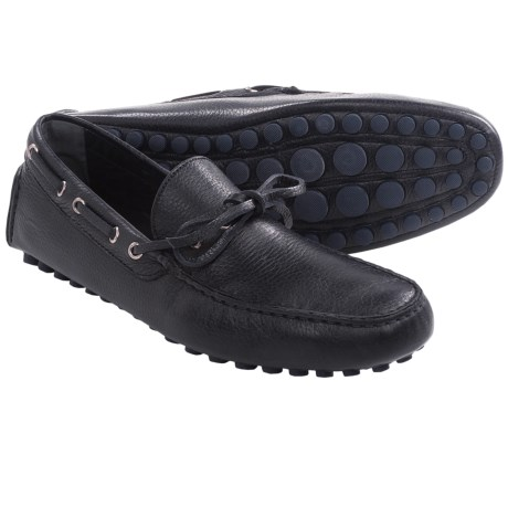 Thomas Dean Driving Shoes - Pebbled Leather, Slip-Ons (For Men)