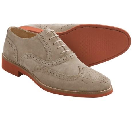 Thomas Dean Wingtip Oxford Shoes - Suede (For Men)