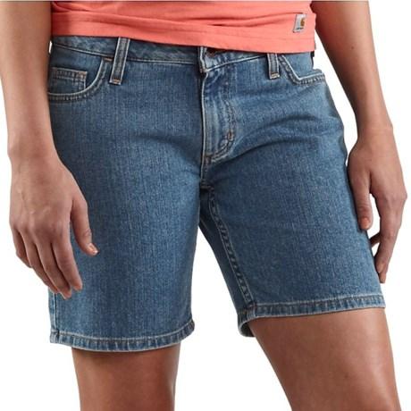 Carhartt Denim Shorts - Curvy Fit (For Women)