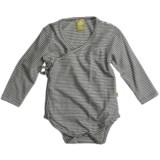 Nui Kimono Crossover Baby Bodysuit - Organic Cotton, Long Sleeve (For Infants)