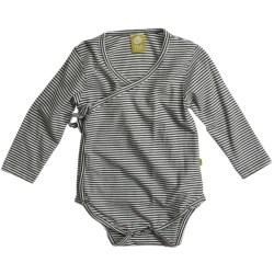 Nui Kimono Crossover Baby Bodysuit - Organic Cotton, Long Sleeve (For Infants)