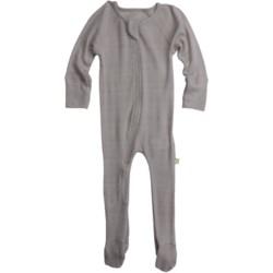 Nui Thermal Zip Baby Bodysuit - Merino Wool, Long Sleeve (For Infants)