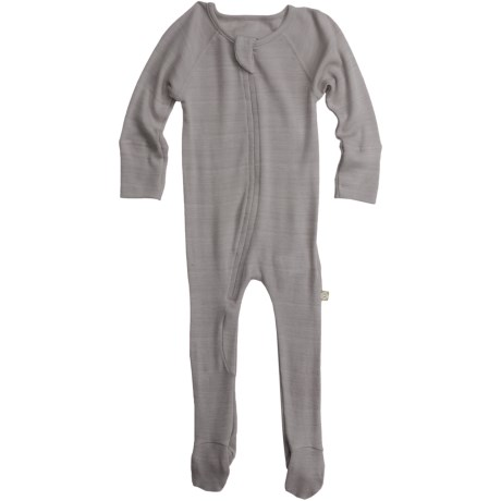 Nui Thermal Zip Baby Bodysuit - Merino Wool, Long Sleeve (For Infants)