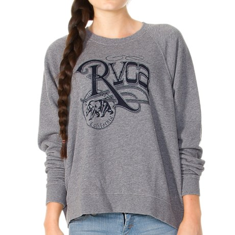 RVCA Republic Sweatshirt - French Terry Cotton Blend (For Women)