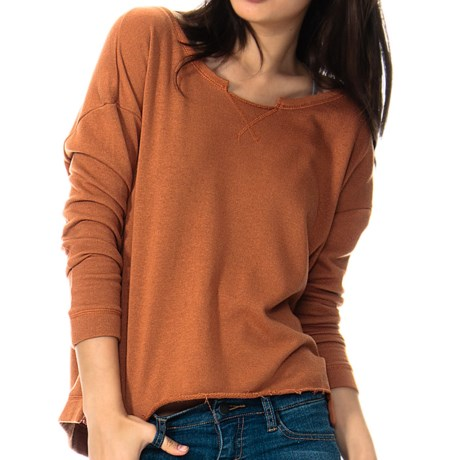RVCA Chumayel French Terry Sweatshirt - Boat Neck (For Women)