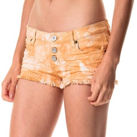 RVCA Mind Traveler Cutoff Denim Shorts (For Women)