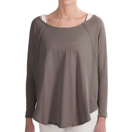 RVCA Label Tucker Dolman T-Shirt - Relaxed Fit, 3/4 Sleeve (For Women)