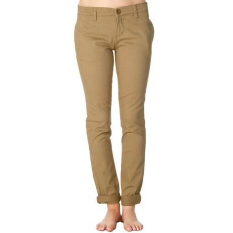 RVCA Unwind Peached Twill Pants - Skinny Fit (For Women)