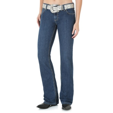 Wrangler Mae Premium Patch Jean - Low Rise (For Women)