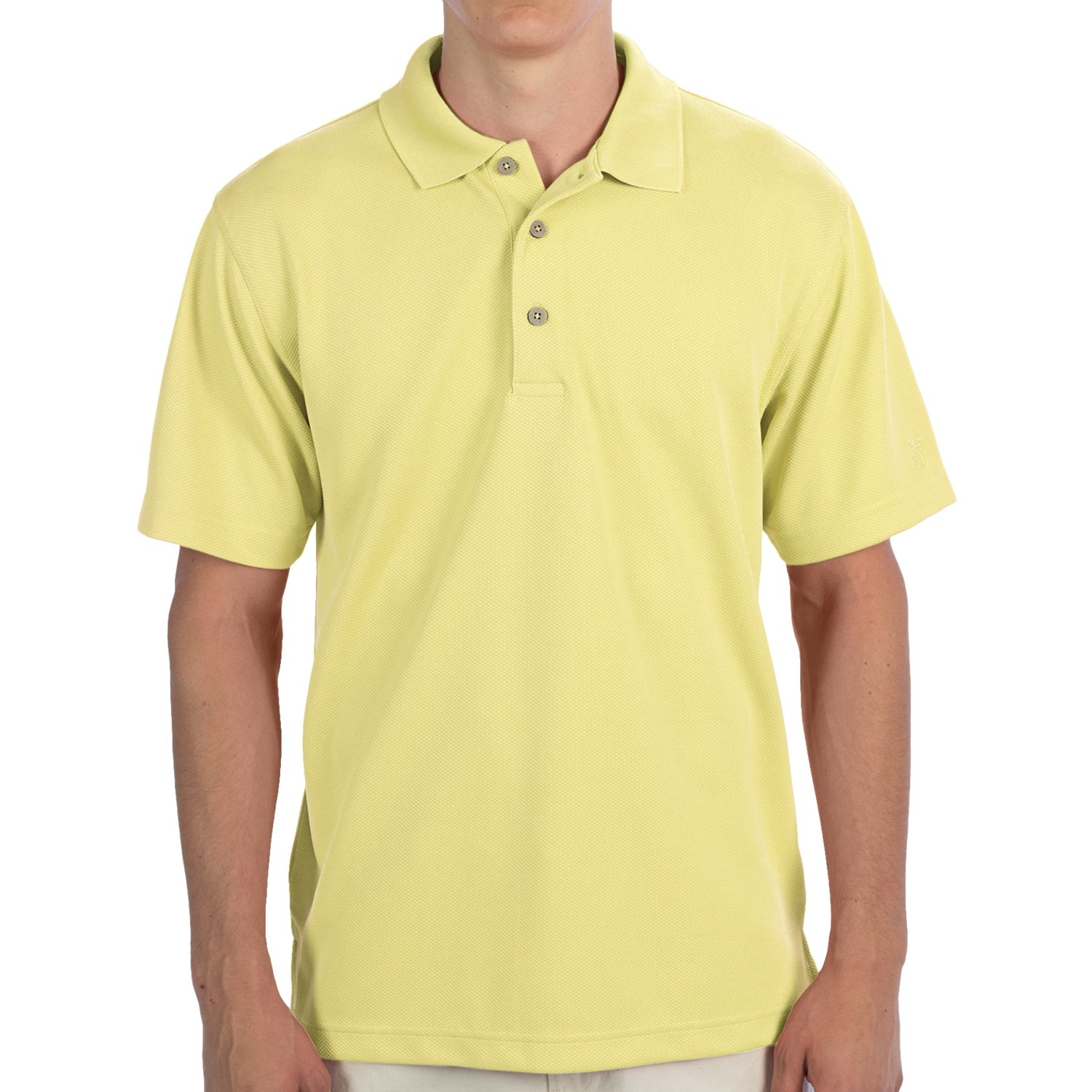 Cubavera popcorn knit polo shirt for men save 50 for Knitted polo shirt mens