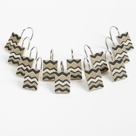 Avanti Linens Lauren Collection Shower Hooks - Set of 12