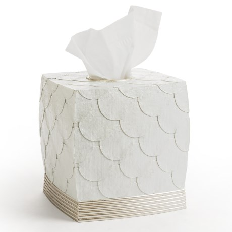 Avanti Linens Flutter Dots Collection Tissue Box Cover