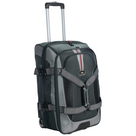"High Sierra AT6 Expandable Rolling Duffel Bag - 26"", Drop Bottom"