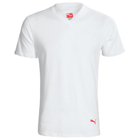 Puma V-Neck T-Shirt - 3-Pack, Short Sleeve (For Men)