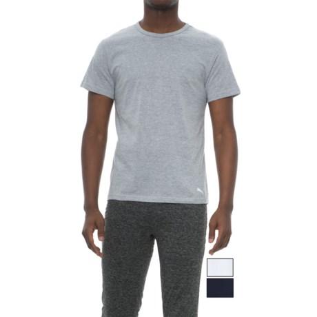 Puma Crew T-Shirt - 3-Pack, Short Sleeve (For Men)