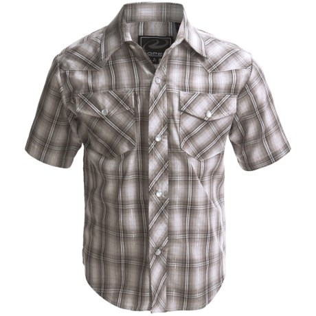 Roper Karman Classic Shirt - Snap Front, Short Sleeve (For Boys)