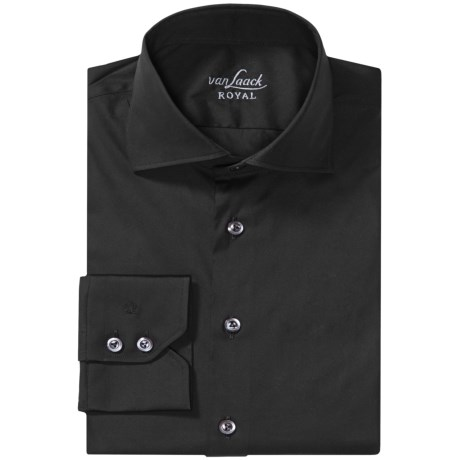 Van Laack Rivara Cotton Shirt - Slim Fit, Long Sleeve (For Men)