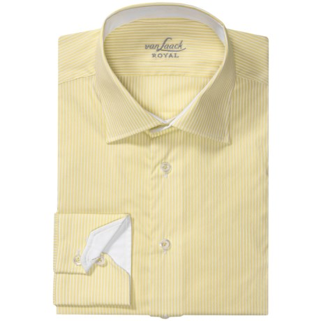 Van Laack Ret Stretch Cotton Blend Shirt - Spread Collar, Long Sleeve (For Men)