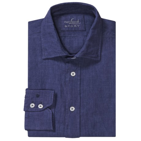 Van Laack Reto Linen Shirt - Roll-Up Long Sleeve (For Men)