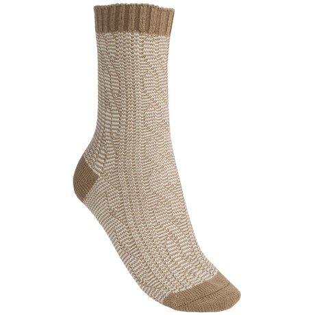 Pantherella Slouchy Cable Socks - Wool Blend, Crew (For Women)