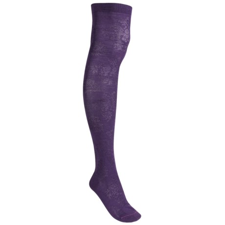 Pantherella Damask Socks - Wool Blend, Over-the-Knee (For Women)