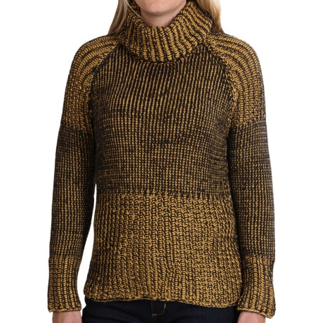 Pure Handknit Luxury Cotton Turtleneck Sweater (For Women)