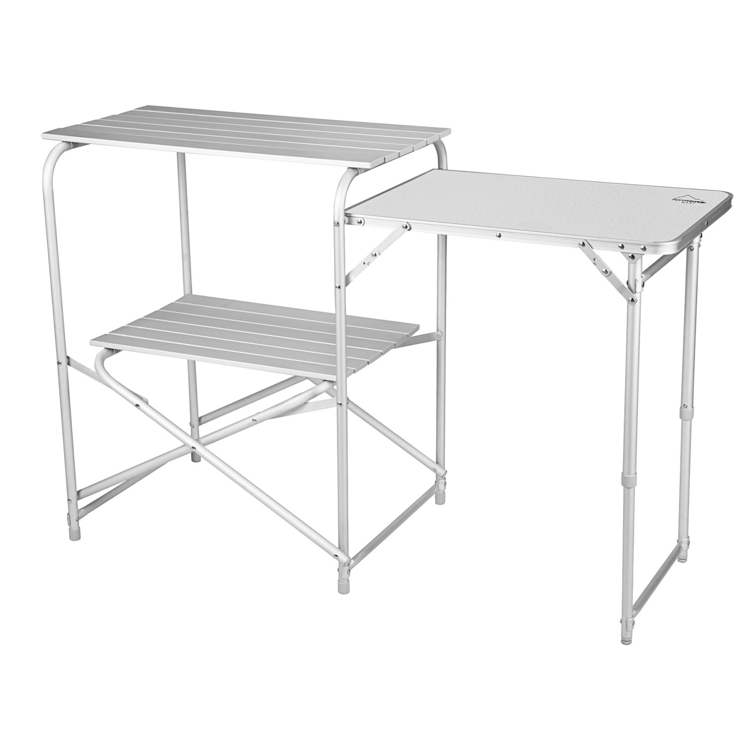 Camping Kitchen Table: Alpine Mountain Gear Roll-Top Camp Kitchen Table 7617K
